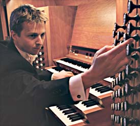 Jonathan Scott at the The Bridgewater Hall organ console