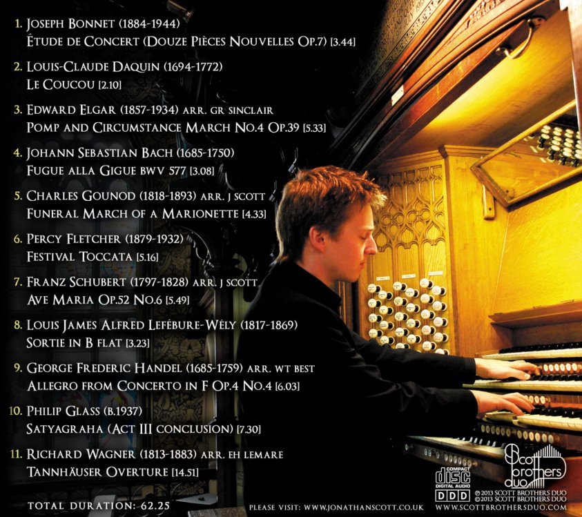 Jonathan Scott - The Organ of Rochdale Town Hall - Track List